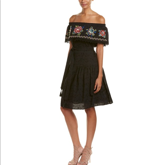 04568625a920d Anthropologie Dresses | Champagne Strawberry Embroidered Dress M ...